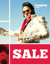 Art & Entertainment: Elvis Presley Sale Poster Template #04602