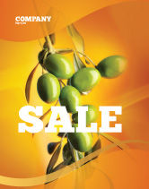 Agriculture and Animals: Olives Sale Poster Template #04622