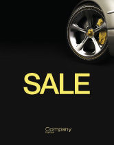 Cars/Transportation: Driving Wheel Sale Poster Template #04629