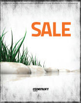 Nature & Environment: Stones and Grass Sale Poster Template #04639