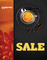 Food & Beverage: Coffee Shop Sale Poster Template #04643