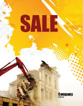Construction: Demolition Sale Poster Template #04661