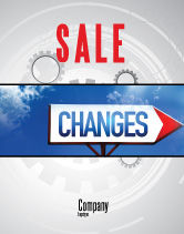 Business Concepts: Way To Changes Sale Poster Template #04676