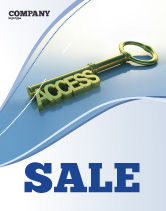 Business Concepts: Access Key Sale Poster Template #04689
