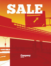 Construction: Road Way Sale Poster Template #04692