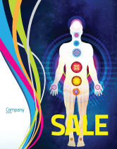 Medical: Body Chakras Sale Poster Template #04696