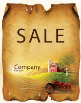 Agriculture and Animals: Life On The Farm Sale Poster Template #04698
