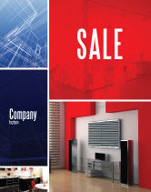 Construction: Interior Design In 3D Modeling Sale Poster Template #04699