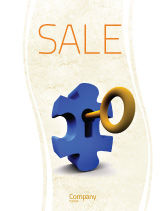 Consulting: Key Puzzle Sale Poster Template #04708
