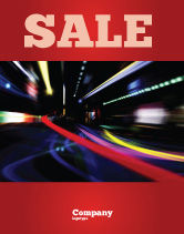 Cars/Transportation: Long Exposure Sale Poster Template #04717