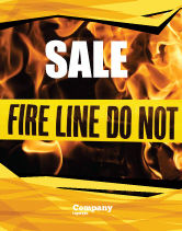 Careers/Industry: Fire Line Sale Poster Template #04736