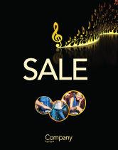 Art & Entertainment: Modern Music Sale Poster Template #04739