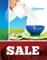 Food & Beverage: Milk Breeding Sale Poster Template #04747
