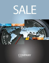 Global: World Clock Sale Poster Template #04781
