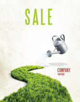 Nature & Environment: Green Path Sale Poster Template #04785