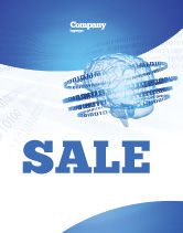 Technology, Science & Computers: Artificial Mind Sale Poster Template #04792
