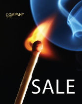 Business Concepts: Gas Cooker Sale Poster Template #04808