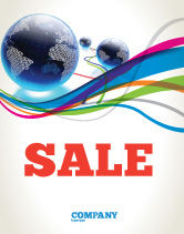 Telecommunication: World Web Sale Poster Template #04819