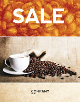 Food & Beverage: Coffee Break With Cappuccino Sale Poster Template #04820