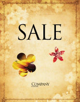 Abstract/Textures: Grunge Flower Texture Sale Poster Template #04826