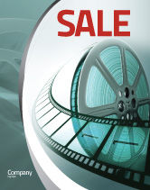 Careers/Industry: Film Reel Sale Poster Template #04827