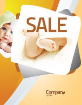 Education & Training: Little Feet Sale Poster Template #04837