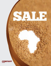 Medical: African Famine Sale Poster Template #04841