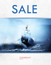 Nature & Environment: Sea Storm Poster Template #04842