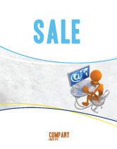 Education & Training: Internet Addiction Sale Poster Template #04860