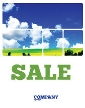 Nature & Environment: Sunny Landscape Sale Poster Template #04863
