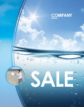 Careers/Industry: Water Wave Sale Poster Template #04866