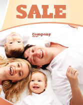 People: Lucky Family Sale Poster Template #04888