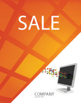 Technology, Science & Computers: Pixels Sale Poster Template #04898