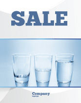Business Concepts: Glass Half Full Sale Poster Template #04919