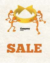 Business Concepts: Resolving Sale Poster Template #04952