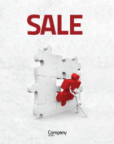 Consulting: Inserting Missing Part Sale Poster Template #04980