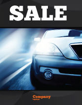 Cars/Transportation: Auto Op De Weg In De Schemering Poster Template #04982