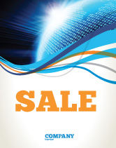 Telecommunication: World In Digits Sale Poster Template #04997