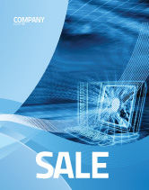 Technology, Science & Computers: Personal Computer Wired Model Sale Poster Template #05007