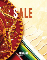 Holiday/Special Occasion: Modelo de Cartaz - cinco de maio #05012