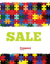Abstract/Textures: Colorful Puzzle Canvas Sale Poster Template #05021