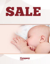 Medical: Breast Feeding Sale Poster Template #05025
