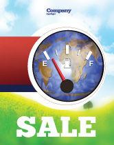 Careers/Industry: Fuel Meter Sale Poster Template #05077