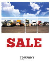 Cars/Transportation: Trucks Sale Poster Template #05080