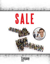 Consulting: Moving Crowd Sale Poster Template #05097