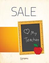 Education & Training: I Love My Teacher Sale Poster Template #05109