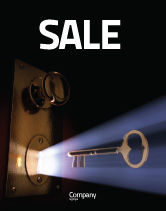 Consulting: Keyhole With Light Beam Sale Poster Template #05113
