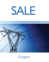 Careers/Industry: Power Lines Mast Sale Poster Template #05131