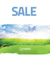 Agriculture and Animals: Aurora Over The Green Field Sale Poster Template #05135