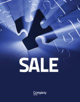 Business Concepts: Last Puzzle Needed Sale Poster Template #05143